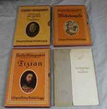 Buch: Künstler-Monographien - 4 Bände von 1898 bis 1922 / 3x mit Schuber  /S229