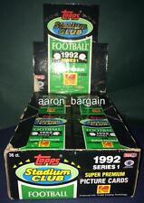 1992 Topps Stadium Club 5 PACK LOT Elway/Emmitt Smith/Barry Sanders/Howie/Allen?