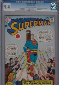 SUPERMAN #184 1966 CGC 9.4 NM AL PLASTINO ART CURT SWAN COVER! BONDAGE COVER