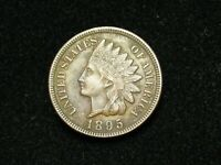 HOLIDAY SALE!!  XF-AU 1895 INDIAN HEAD CENT PENNY  W/DIAMONDS & FULL LIBERTY 14t