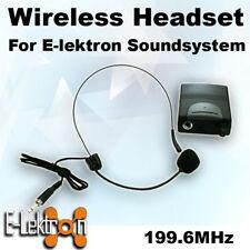 E-Lektron EL-M199.6 VHF Headset Microphone for PA Portable Sound system