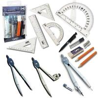 """Mr. Pen- 15 Pcs Compass Set with Swing Arm Protractor (6""""), Geometry Set for"""