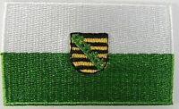 Sachsen Aufnäher gestickt,Flagge Fahne,Patch,Aufbügler,6,5cm,neu