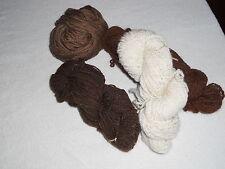 YARN - BROWN AND CREAM WHITE