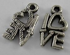 10g (circa 30pcs) TIBETAN SILVER Colour Love Charm