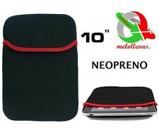 "FUNDA NEOPRENO ELASTICO Para TABLET PC PORTATIL NOTEBOOK APAD EBOOK 10"" Pulgadas"