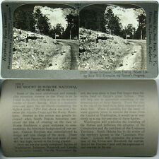 Keystone Stereoview MOUNT RUSHMORE Under Construction From 600/1200 Card Set A
