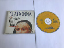 Madonna – Who's That Girl – 7599 20692-2 YELLOW SIRE EX/EX 075992069229