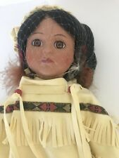 """Beautiful Native American 16 1/2"""" Doll with Stand ~ Design Debut"""