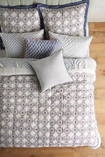 NEW  5 PC Anthropologie Walter G Ibera Queen Quilt W/ 2 Standard  & 2 Euro Shams