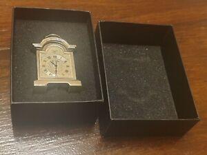W Widdop Tempus Fugit Ornate Miniature  Metal Carriage Clock Retro