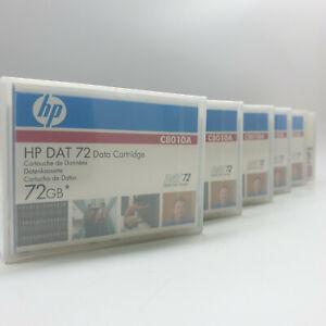Lot of 6 HP DAT 72 Data Cartridge 72GB C8010A