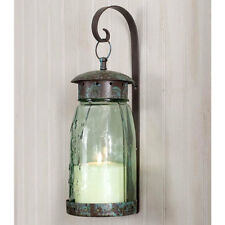 Quart Mason Jar Hanging Wall Sconce Light in Verdi Green finish by CTW Home