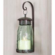 Quart Mason Jar Hanging Wall Sconce Light in Verdi Green finish by CTW Home