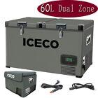 ICECO VL60 63 Quart Dual Zone Car Portable Fridge Refrigerator Camp Travel Truck photo