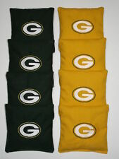 GREEN BAY PACKERS  Cornhole ACA REGULATION Bean Corn Toss Bags EMBROIDERED NEW