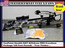 TenPoint Stealth NXT ACUdraw PRO Crossbow Package 138 Foot Pounds - True Timber…