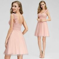 UK Ever-Pretty One Shoulder Knee-Length Bridesmaid Dress Cocktail Prom Gown 3093