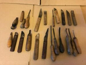 Collection of Vintage Leather Workers Tools / Cobblers Leather Working Tools