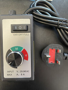 Extractor Fan Speed Controller 8 Amp Kitchen Canopy Fan Speed Controller