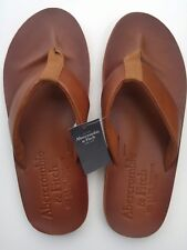 NEW Abercrombie & Fitch Leather Flip Flops -  Men's size XL SAVE!!!
