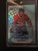 2019-20 UD UPPER DECK ICE NICK SUZUKI ROOKIE BLUE SUB ZERO AUTO CANADIENS