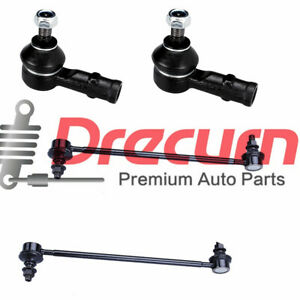 4Pcs  Sway Bar and Outer Tie Rod Kit For 2004-2011 Mitsubishi Endeavor FWD