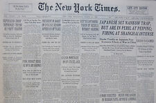 8-1937 August 25 JAPANESE SET NANKOW TRAP, IN PERIL AT PEIPING, SHANGHAI INTENSE
