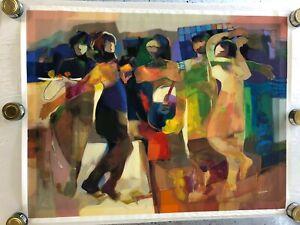 "Hessam Abrishami ""Beyond Borders"" 288/295 Serigraph on Canvas 36""x48"""