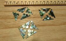 12 Paua  Shell Fancy Corner Pieces - Inlay- Restoration  26mm