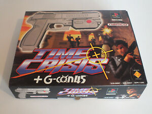 Time Crisis + G Con 45 Light Gun PlayStation 1 PS1 Complete in Great Condition.