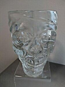 Luminarc Treasure Island Glass Pirate Skull 32 Oz Cup Mug Stein Halloween Decor