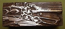 """""""ROWING/SCULLING"""" PRINTING BLOCK."""