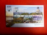 New Zealand  NZ2020 STAMP EXHIBITION LIGHTHOUSE  STAMP MINI SHEET COVER 22 MAR