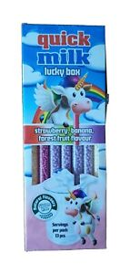 Quick Milk Magic Straw Sippers Lucky Mix Box, Stawb, Ban, F/Fruit Flav (13x1)