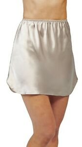 "Shadowline Satin Essentials 15"" Nylon half slip Size XL Silver Style 47091"