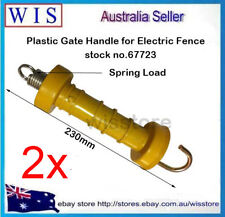 2pcs/PK Electric Fence Poly Handle Gate Yellow Internal Spring Hook Heavy Duty