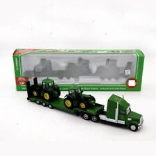 1:87 Farmer Low Loader Truck With 2 Tractors Models Diecast Toy Vehicles Toys