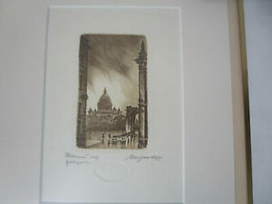 Vintage 1995 Mironoff Etching Framed Signed