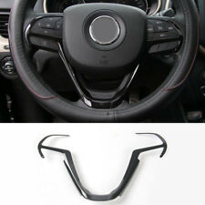 For Jeep Cherokee Grand Cherokee 2014-2019 ABS Black Steering Wheel Cover Trim