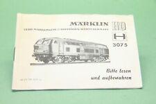M&B Marklin HO Beschreibung 3075 # 68 375 YA 0370 ju