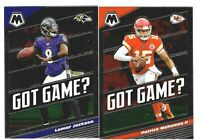 2020 Panini Mosaic Football GOT GAME? Insert - Complete Your Set You Pick!