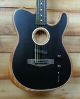 New Fender® American Acoustasonic Telecaster Acoustic Electric Guitar Black