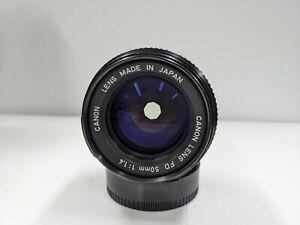 Canon FD 50mm F/1.4 (New FD) Lens
