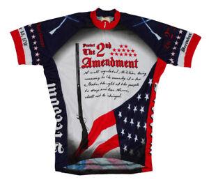 2nd Second Amendment USA Cycling Jersey World Jerseys Men's with DeFeet Socks