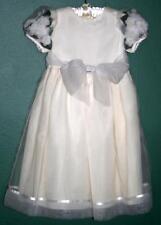 Cielo Neiman Marcus Sz 6X Flower Girl Dress Holiday Fancy Wedding Ivory & White