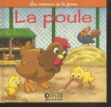 Les animaux de la ferme.La poule. Atlas ES10
