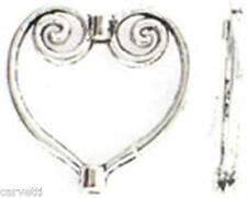 20mm Antiqued Pewter Square Ornate Heart Bead Frames (10) Lead-Safe MFP1330S