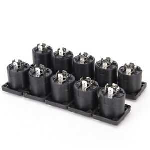 10x Speakon 4 Pin Female jack Compatible Audio Cable Panel Socket Connector C OE