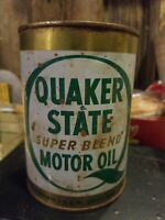Vintage Quaker State Super Blend 1 Quart Motor Oil